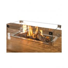 Kit ecrane de geam pentru arzator mare dreptunghiular incorporabil