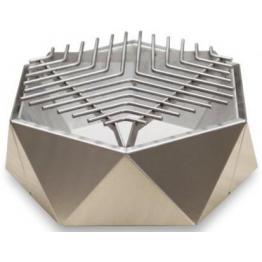 Mini Grill Top Table Inox. D37 cm