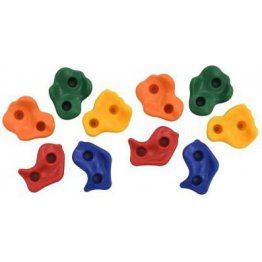 Set 10 pietre de catarare alpinism, multicolore pentru spatiile de joaca