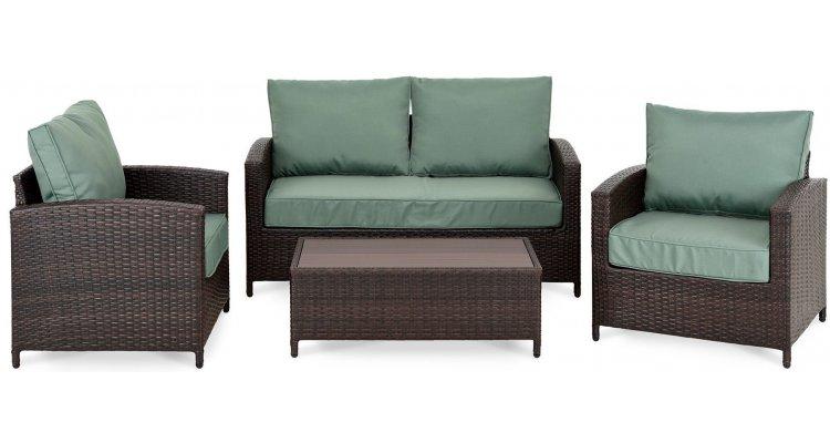 ANDALUCIA Set mobilier gradina/terasa, 2 fotolii, canapea si masuta imagine 2021 kivi.ro