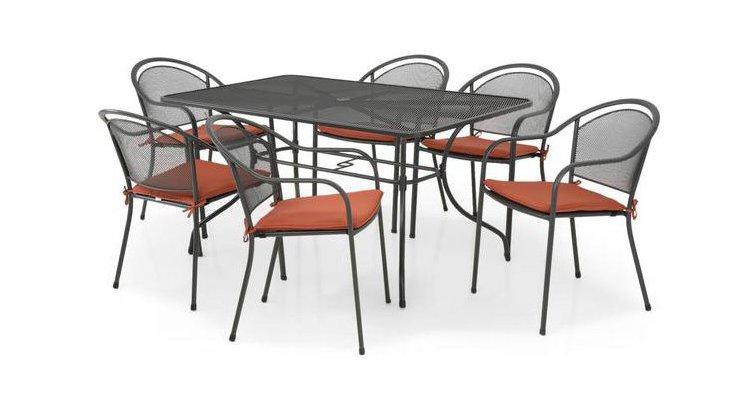 CHAYNE Set masa dreptunghiulara si 6 scaune imagine 2021 kivi.ro