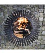 Bol pentru foc, negru, benzi otel carbon FF400