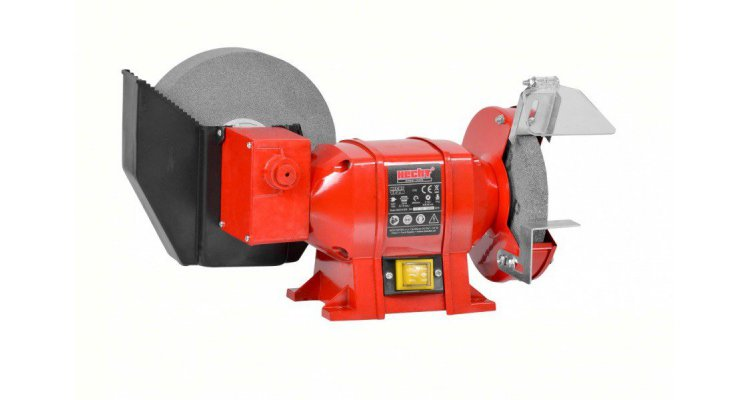 Polizor de banc HECHT 1728, WET&DRY, putere 250 W, diametru piatra 150/200 mm, 2960 rpm imagine 2021 kivi.ro