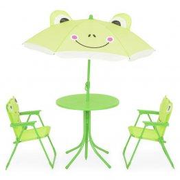 Set FROG cu 2 scaune, masuta si umbrela copii