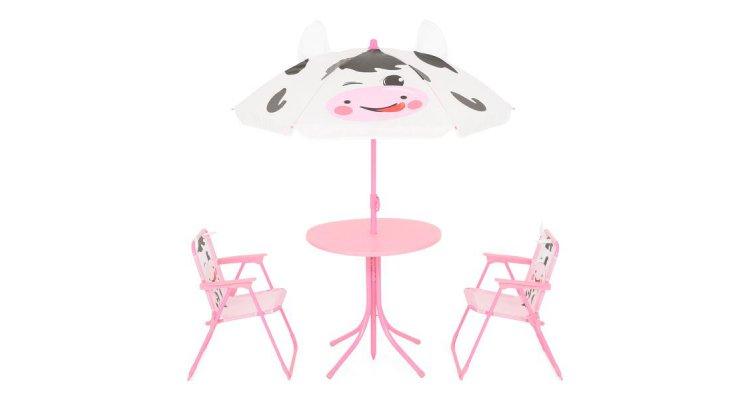 Set COW cu 2 scaune, masuta si umbrela copii poza kivi.ro