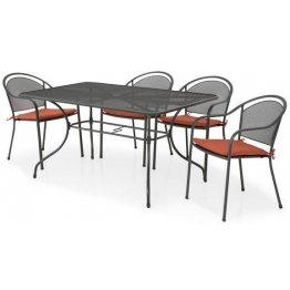 Set masa dreptunghiulara si 4 scaune CHAYNE