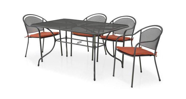 Set masa dreptunghiulara si 4 scaune CHAYNE imagine 2021 kivi.ro