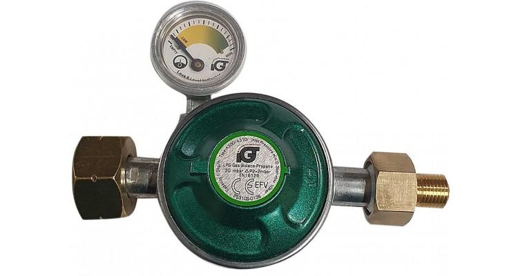 Set regulator gaz de presiune cu furtun si manometru Grand Hall A00080040T poza kivi.ro