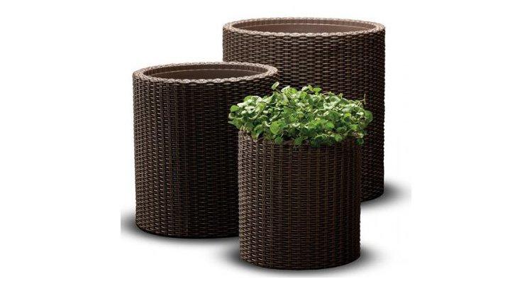 Set ghivece cilindrice S+M+L Planters - Maro-Auriu poza kivi.ro