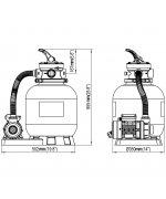 Pompa pentru Piscina cu Filtru de Nisip 35 cm