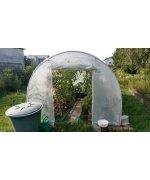 Solar legume alb pentru gradina cu schelet metalic 6 x3 M + sistem de irigare prin picurare