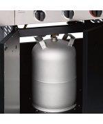 Bucatarie pe gaz, 4 arzatoare inox, arzator infrarosu, grile fonta, Enders Kansas Pro 4 SIK Profi Turbo 8711