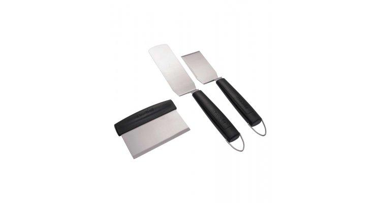 Set 3 spatule pentru gratar si plancha Char-Broil 140022
