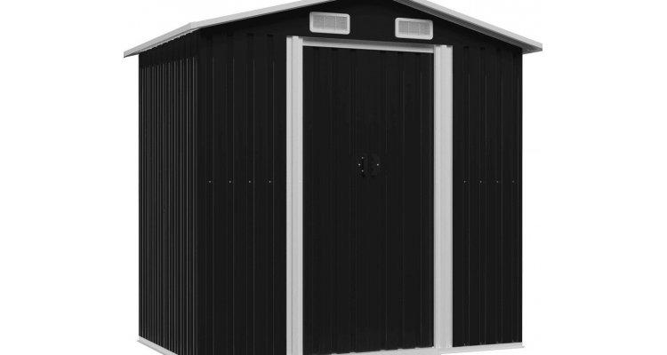 Magazie depozitare gradina antracit 204x132x186 cm