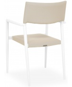 Set 8 scaune si masa exterior ALBACETE SORIA L.240 l.100 H.75 alb kaki
