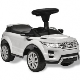 Masina pentru copii Land Rover 348, cu muzica, alb