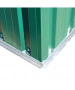 magazie metalică de grădină, 204 x 132 x 186 cm, verde