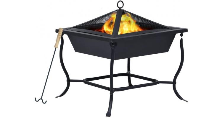 Ladita de foc neagra 45x45x45 cm