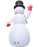 Om de zapada gonflabil pentru Craciun cu LED, IP44,600 cm, XXL