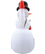 Om de zapada gonflabil pentru Craciun cu LED, IP44, 450 cm, XXL