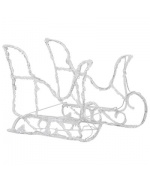 Decoratiune de Craciun cu reni si sanie, 280x28x55, acril