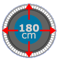 Set 180 cm